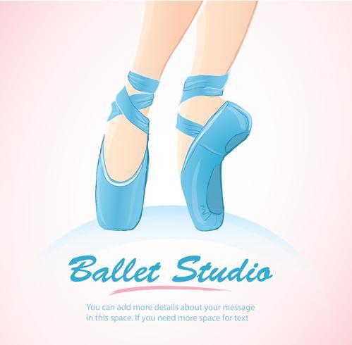 woman leg ballerina background , ballet logo icon for ballet school dance studio vector illustration