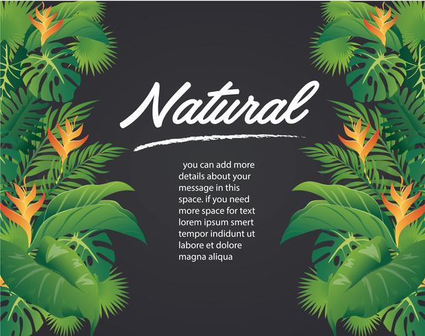 groene bladeren modern ontwerp en zwarte achtergrond vectorillustratie