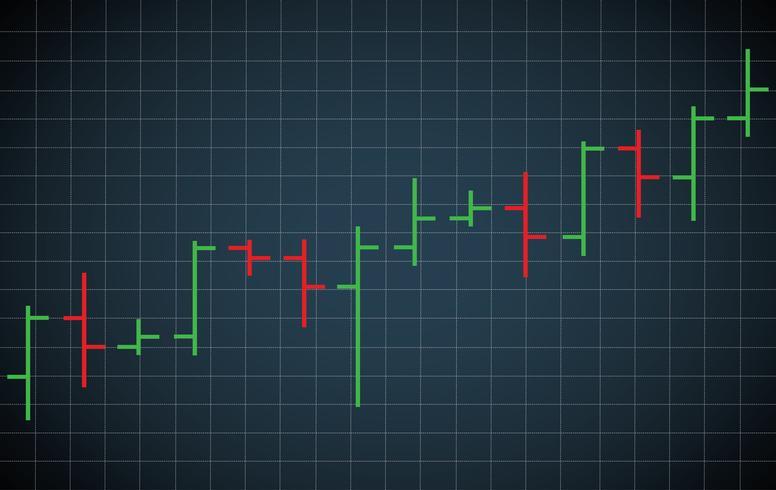 gráfico de barras, bolsa, vector, ilustración