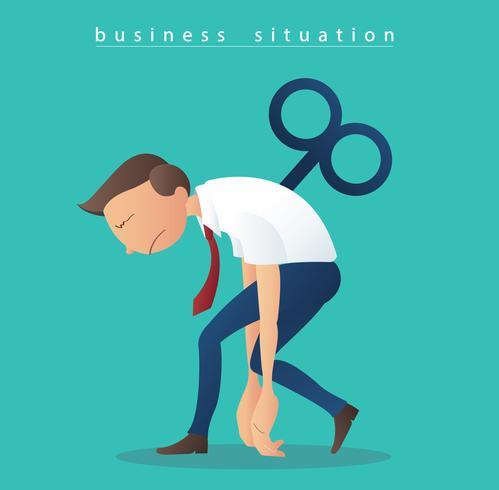 uomini d'affari di depressione, uomini d'affari con il vettore chiave dell'illustrazione di conclusione