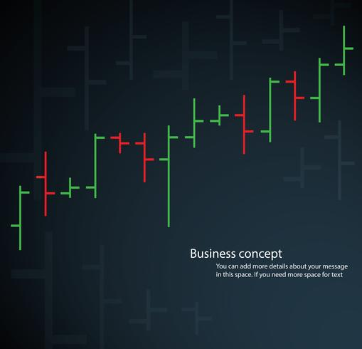 bar chart stock exchange vector illustration
