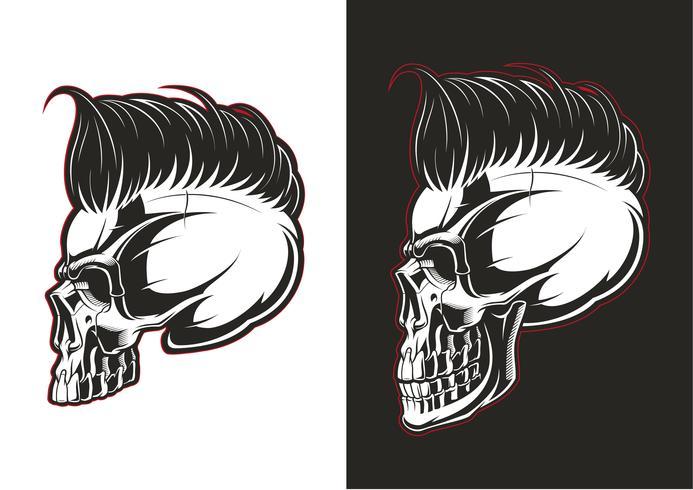 Profil de crâne de coiffeur vecteur