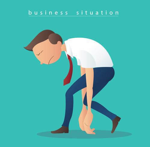 vettore dell'illustrazione degli uomini d'affari di depressione