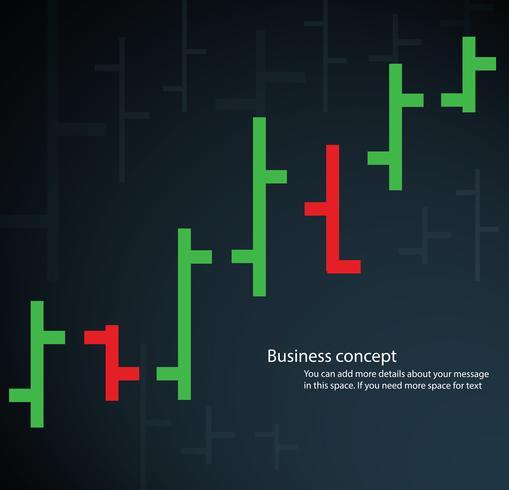 staafdiagram beurs vectorillustratie