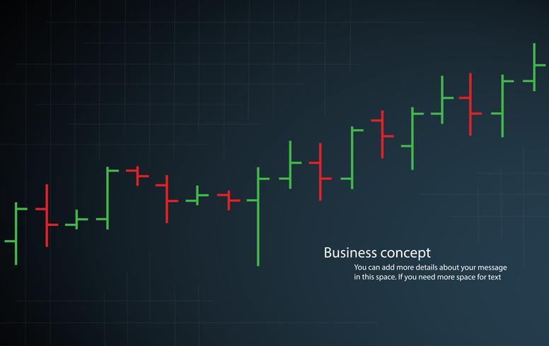 bar chart stock exchange vector illustration
