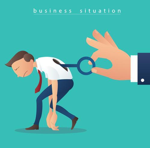 mano che tiene la grande chiave e uomini d'affari con illustrazione vettoriale chiave buco