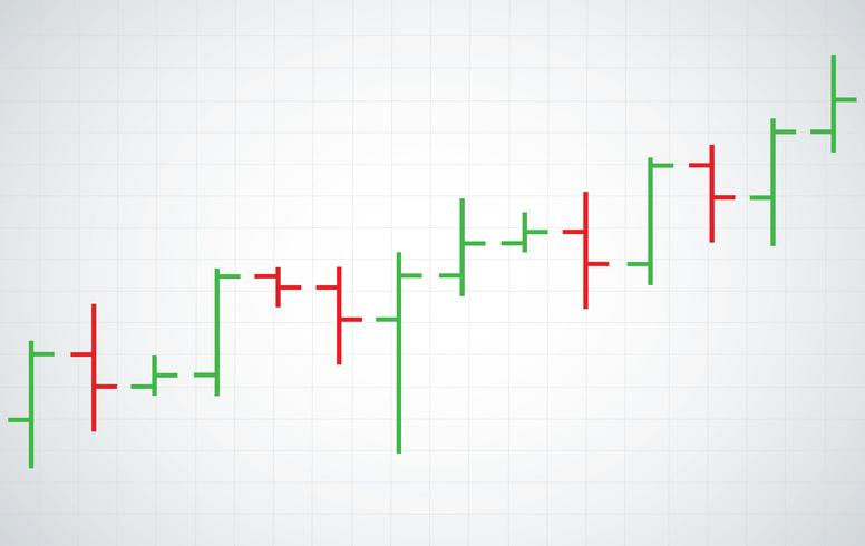 gráfico de barras, bolsa, vector, ilustración vector