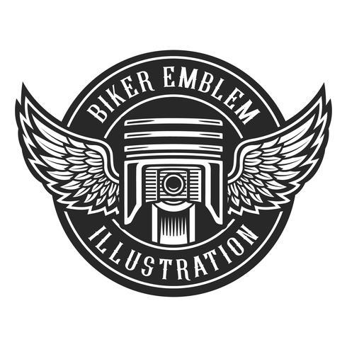 Biker emblem vector