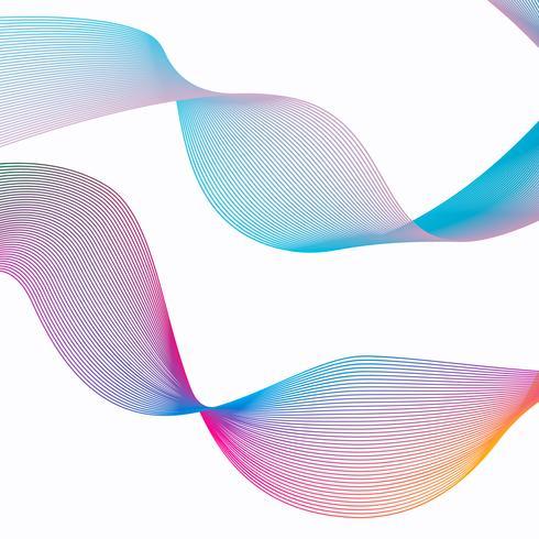 Abstrakt ränder gradient våg linje konst