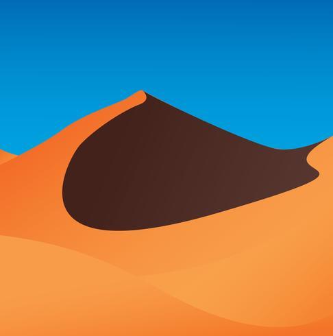 ilustração em vetor fundo deserto