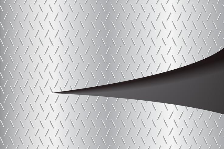 placa de corte metal rasgando e espaço ilustração vetorial de fundo preto
