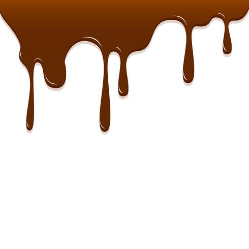 Goteo de chocolate, ilustración de vector de fondo de chocolate