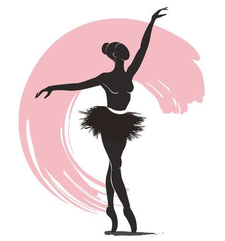 Bailarina De Mulher Icone De Logotipo De Bale Para Ilustracao De