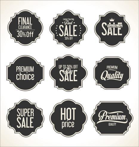 Colección de insignias y etiquetas retro vintage vector