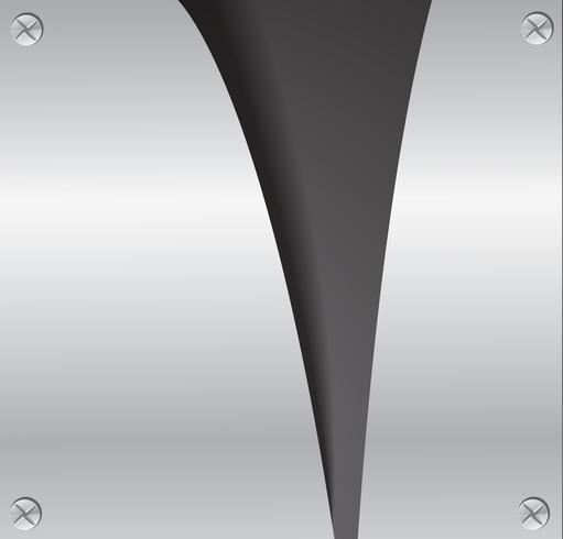 Corte la placa de metal rasgado y espacio fondo negro ilustración vectorial vector
