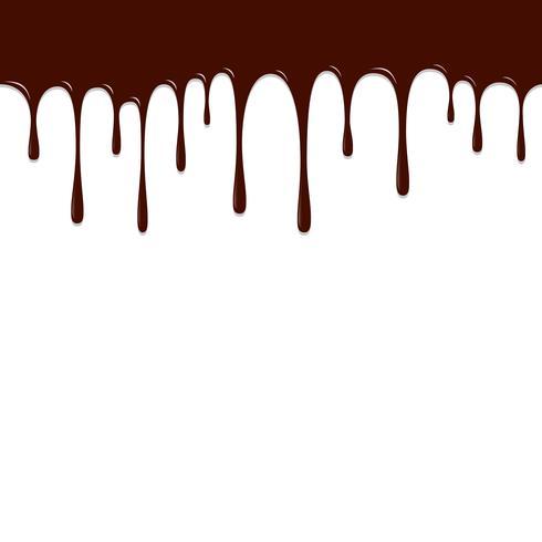 Caída de chocolate, ilustración de vector de fondo de chocolate