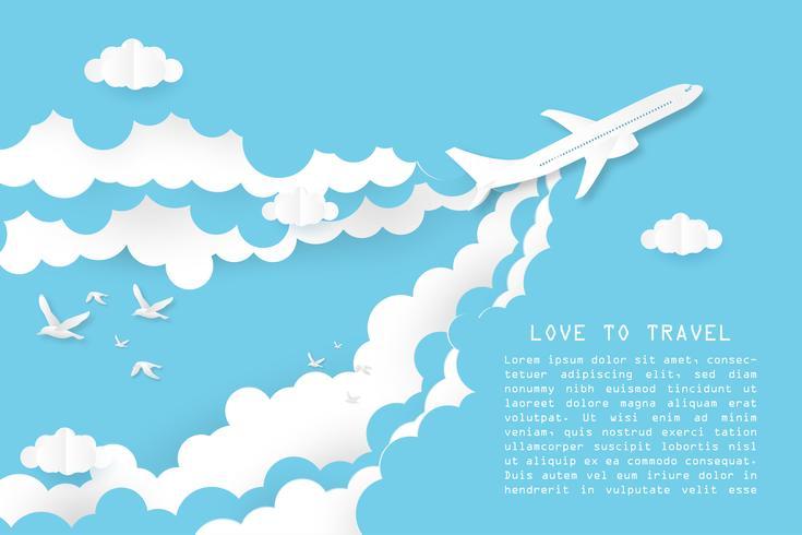 Kreative Illustrationsliebe, zum des Konzeptes zu reisen.