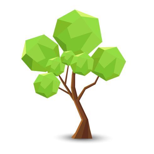 Baum in der Lowpoly Art für Sie Design, Vektorillusatration vektor