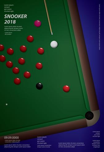 Illustration de vecteur de conception de championnat de billard