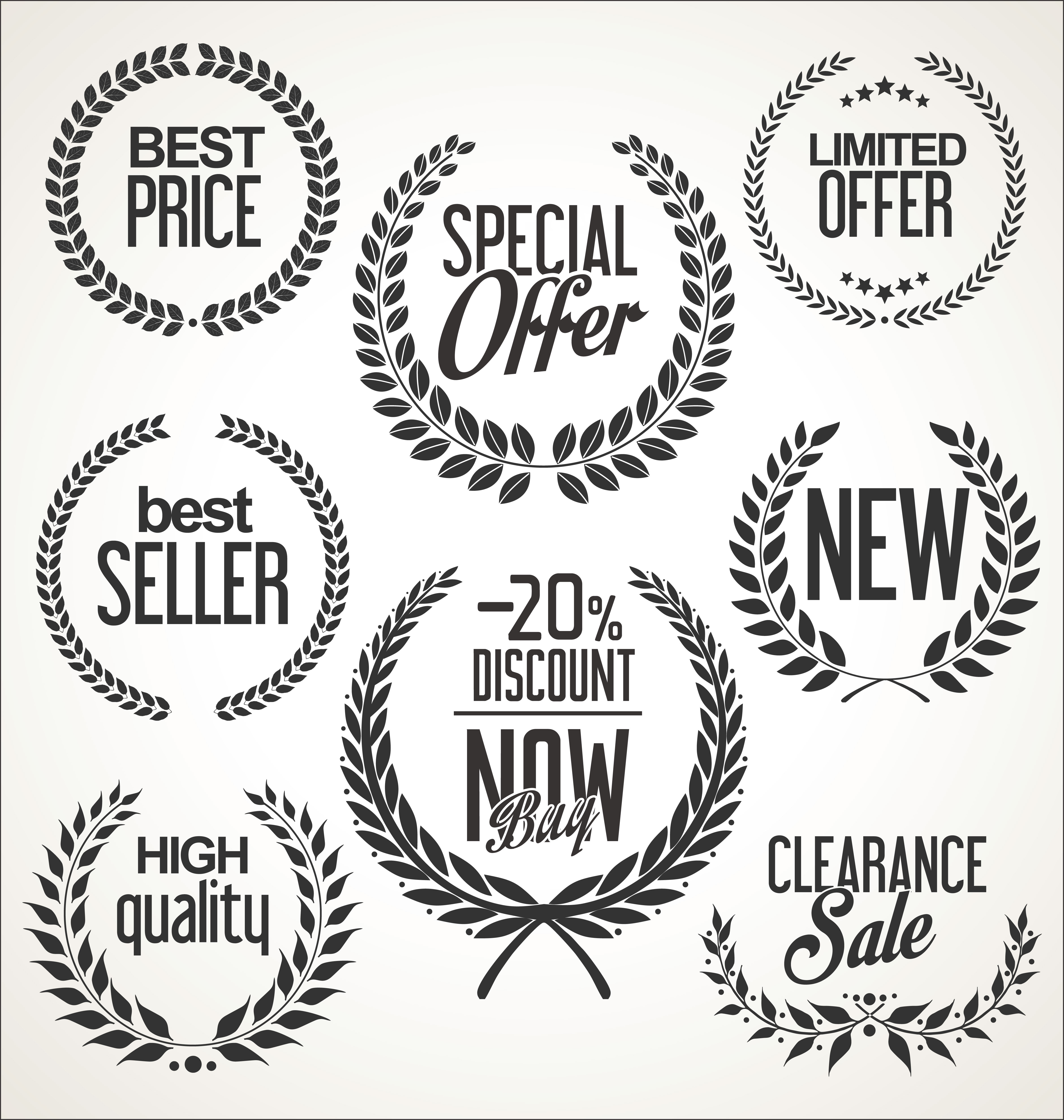 Vintage Wheat Logo Collection: Download Free Vectors, Clipart