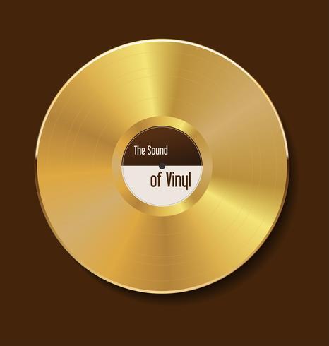 vinyle doré