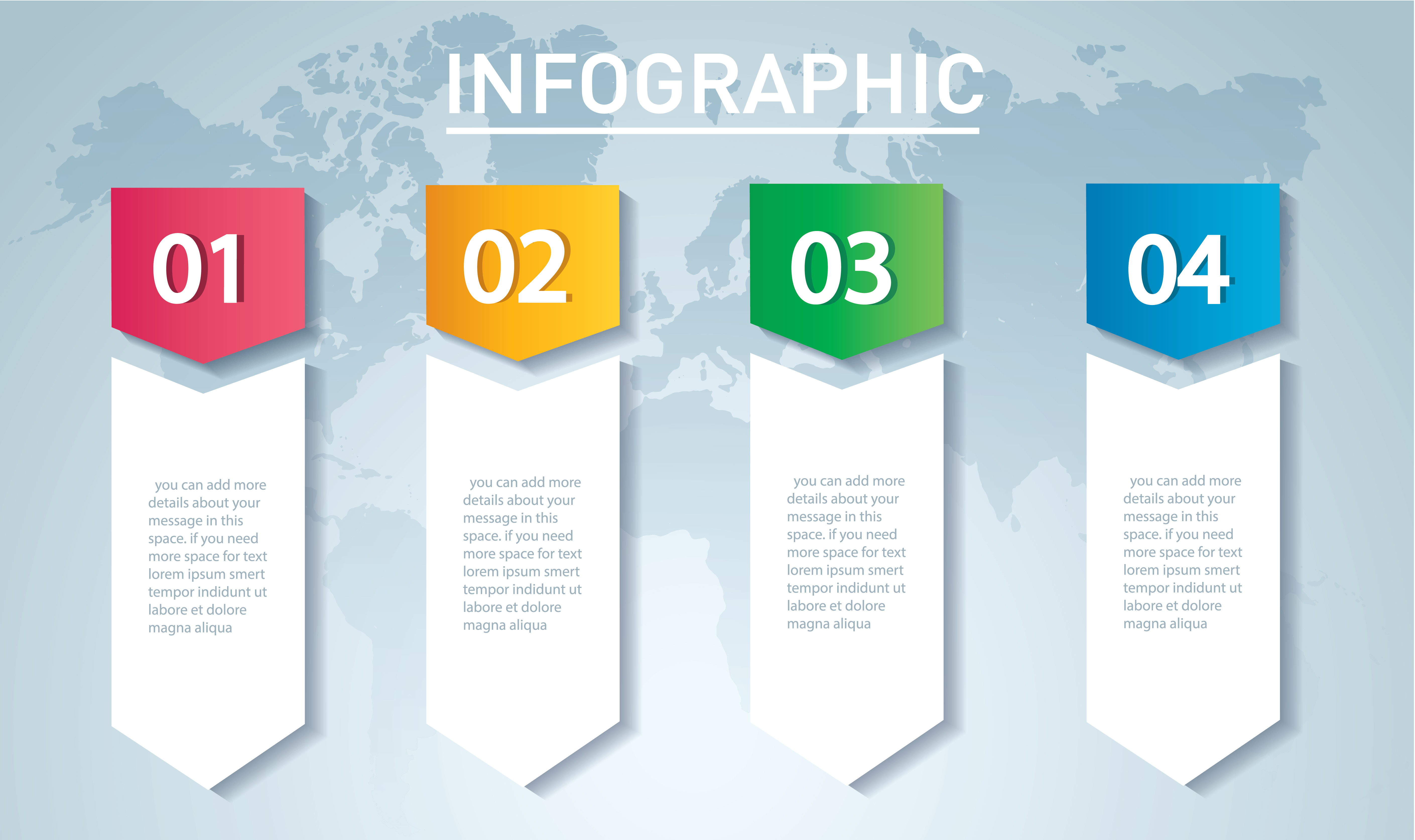 arrow infographic concept  vector template with 4 options