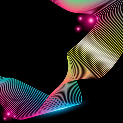 Rayas abstractas degradado onda línea arte
