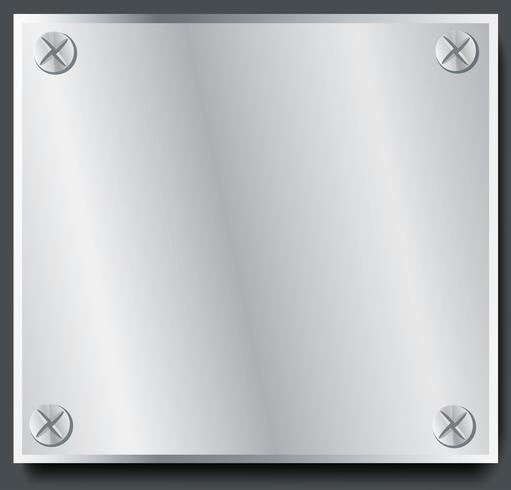 plate metal banner background vector illustration