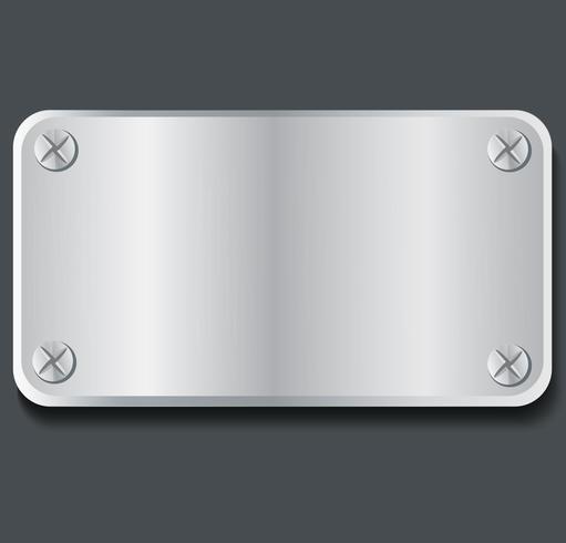 plaat metaal banner achtergrond vectorillustratie
