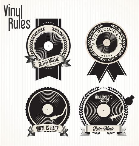 Retro vinyl skivor vektor
