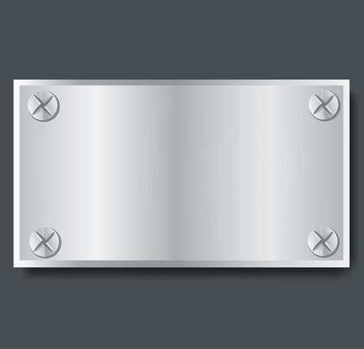 ilustração em vetor placa bandeira metal fundo