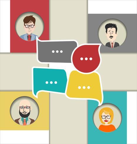 Moderne Vektorillustration des Online-Chats vektor