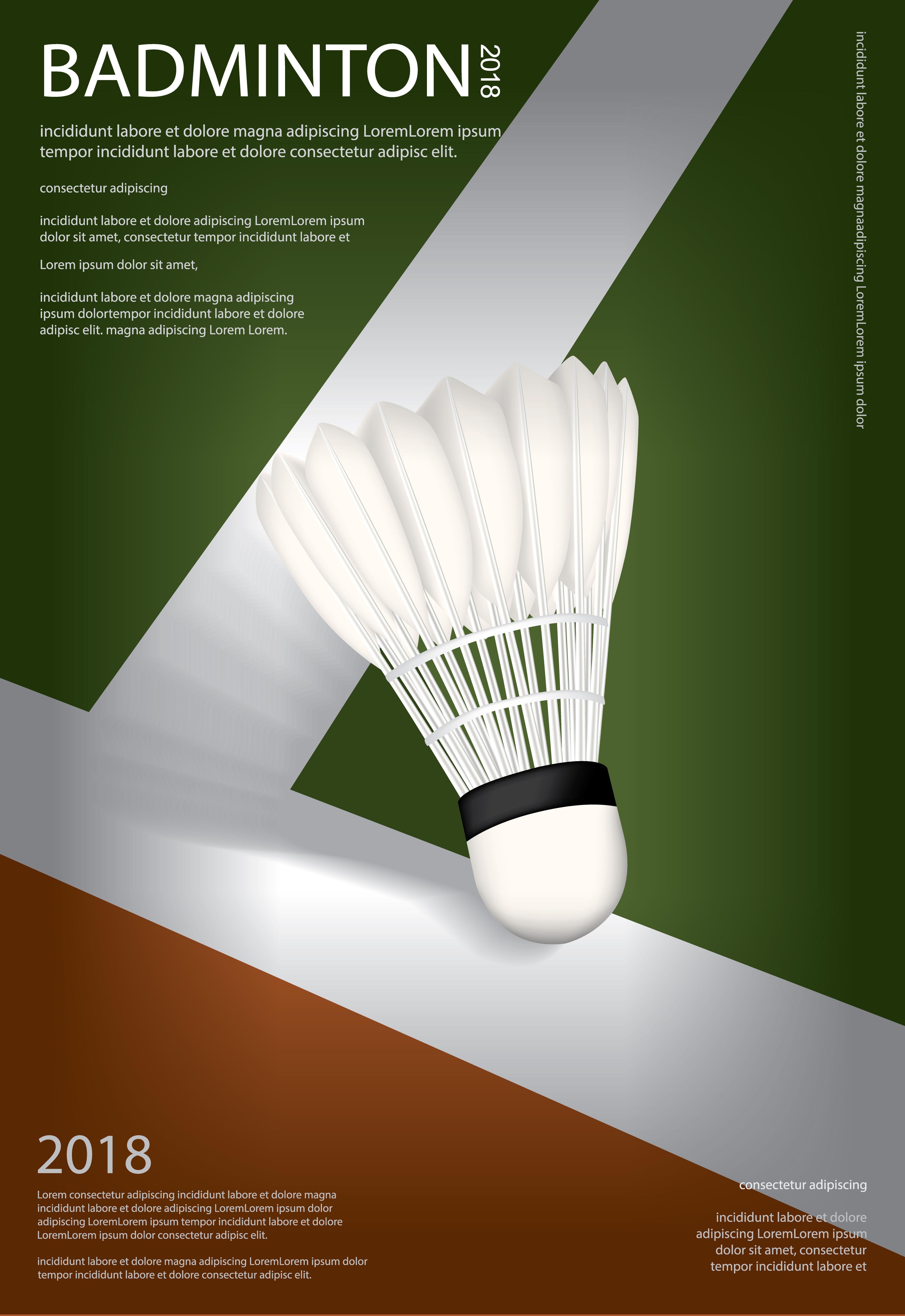 Badminton Championship Poster Vector illustration ...