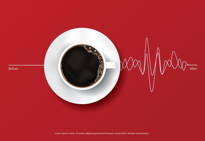 Koffieaffiche Advertentie Flayers Vector Illustration