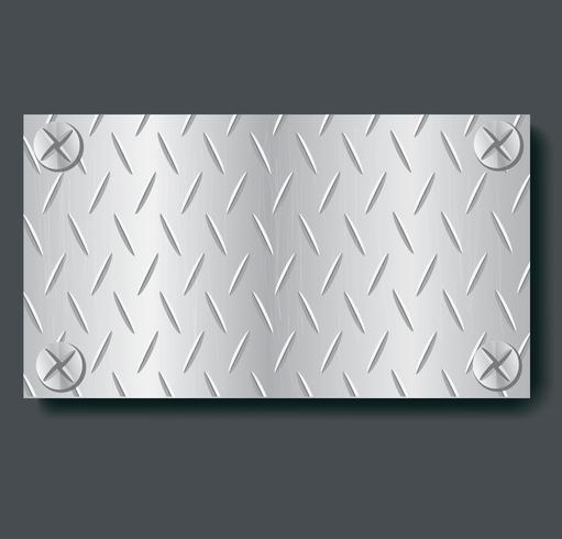 plaat metaal banner achtergrond vectorillustratie vector