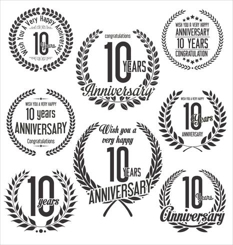 anniversary background vector