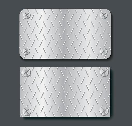 placa de metal banner establece fondo vector illustration