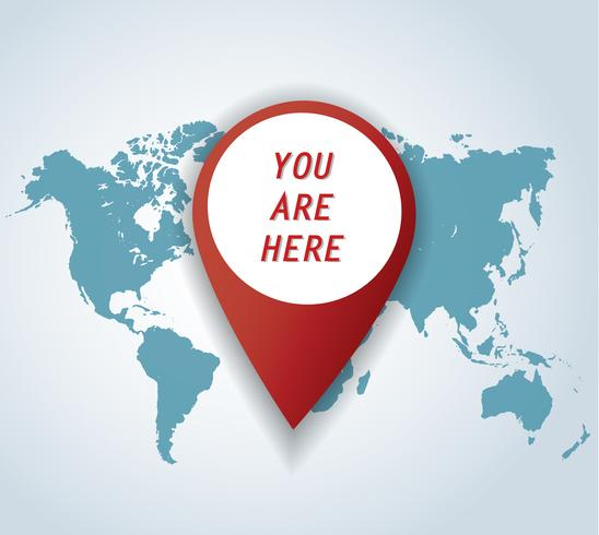 pin icon with map background vector