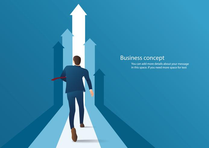zakenman loopt om te slagen in een carrière vectorillustratie