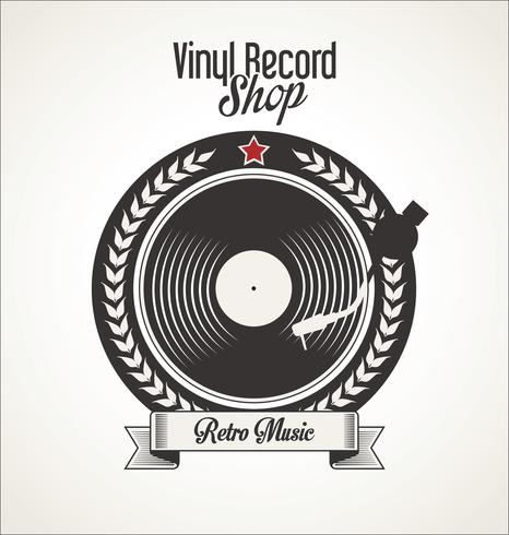 Vinyl record shop retro grunge banner - Download Free Vector