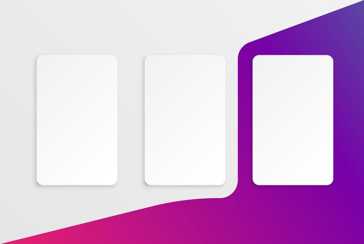 Colorful modern white card template with colorful design vector