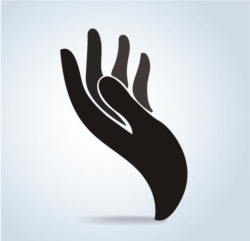 ícone de design de mão, ilustração em vetor logotipo mão