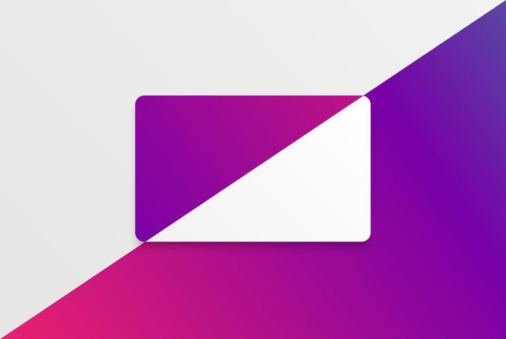 Modèle de carte blanche moderne colorée avec un design coloré vecteur
