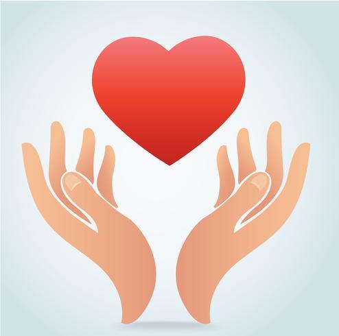 main tenant le vecteur de coeur
