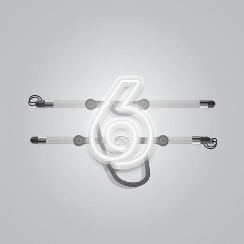Realista brillante neón gris charcter, ilustración vectorial vector