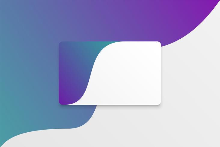 Plantilla de tarjeta blanca moderna colorida con diseño colorido vector