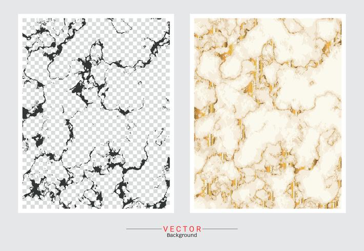 Marble with golden texture background. vector