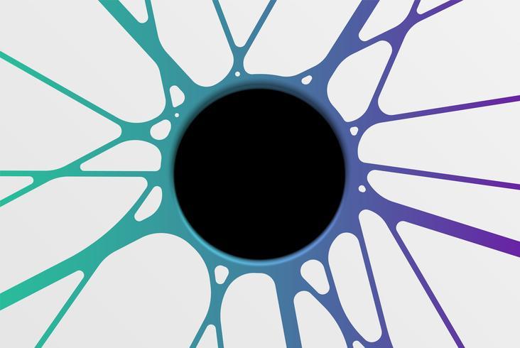 Modèle de trou abstrait avec motif coloré