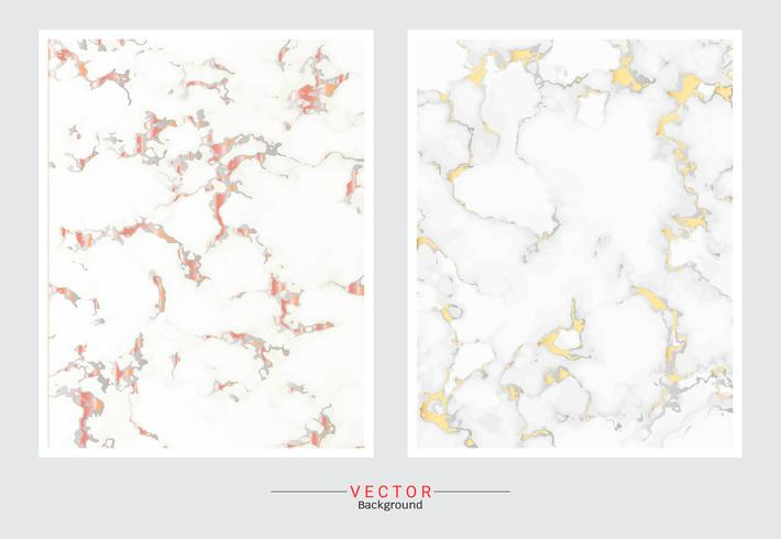 Gold marble cover background. vector