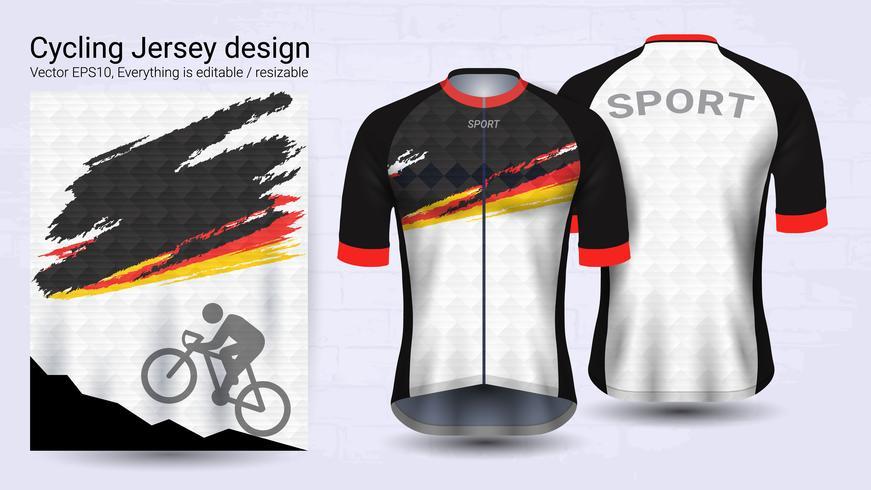 Cycling Jerseys, Short sleeve sport mockup template.